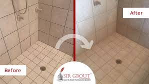 Cleaning Grout In Shower The Appearance Of This Shower In Willard Mo Completely Changed