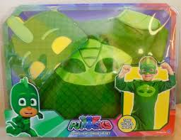 free pj masks gekko hero dress costume mask size 4 6x