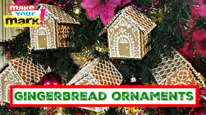 how to cardboard gingerbread ornaments youtube
