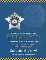 second city cop sergeant exam announcement update