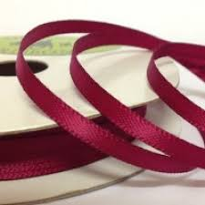 3mm satin ribbon wine sold per roll ref 315 knitting yarn wool