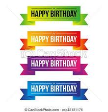 happy birthday ribbon happy birthday ribbon vector set vectors illustration search
