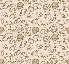 seamless pattern food abstract seamless pattern with food stock vector colourbox