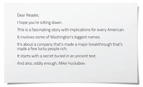 how this company u2014and mike huckabee u2014cashed in by scaring