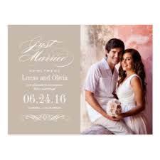 wedding announcements wedding announcement postcards zazzle