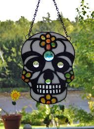 Backyard Skulls Sugar Skull Dia De Los Muertos Stained Glass Skull Day Of The Dead