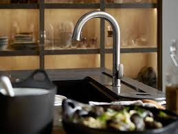 sensate touchless kitchen faucet k 72218 b7 sensate touchless pull kitchen sink faucet kohler