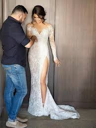 sexxy wedding dresses wedding dresses sheath column sweep brush slit bridal