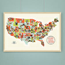 A Map Of The Usa by Altered States Of America A Scifi Horror Map Of The Usa