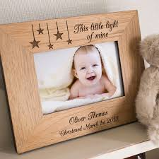 personalized wooden gifts engraved wooden picture frame light of mine