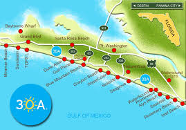 Road Map Of Florida Destin Maps Things To Do And Places Stay Throughout Map Of Florida