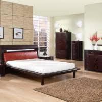 furniture modern platform bed leather with led light on grey