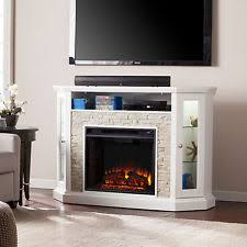 White Electric Fireplace With Bookcase Stone Electric Fireplace Ebay