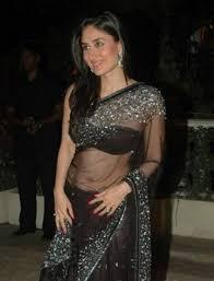 in transparent saree photos