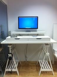Ikea Big Desk Ikea Standing Desk Hacks With Ergonomic Appeal Ikea Printer Table