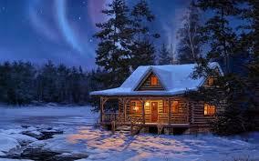 winter cabin winter log cabin pixdaus