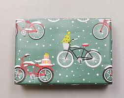 bicycle wrapping paper wrap and revel paper and party goods by wrapandrevel on etsy