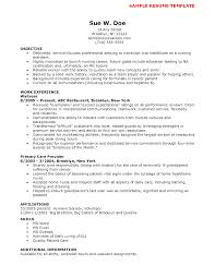 Sample Of Resume With No Work Experience download cna resume no experience haadyaooverbayresort com