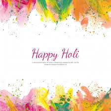holi background with watercolors vector free