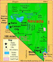 map of nevada nevada facts map and state symbols enchantedlearning