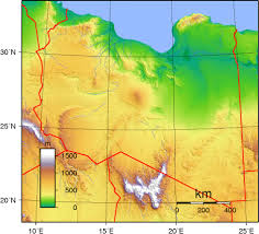 Oregon Elevation Map by Libya Topographic Map Topographic Map