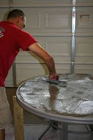 Cement Patio Table How To Create A Concrete Table Top For Your Patio Table Concrete