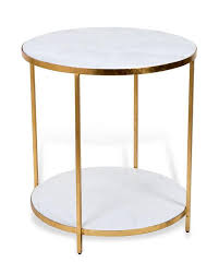 modern round end table gold end table conception white marble 9 tupimo com