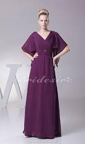 etui linie v ausschnitt bodenlang chiffon brautjungfernkleid mit blumen p629 bridesire lila brautjungfernkleider lila