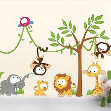 Kids Wall Stickers Nursery Wall Stickers By Vinyl Impression - Animal wall stickers for kids rooms
