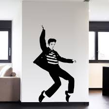 rock home decor fashion dance elvis presley pattern bedroom wall sticker wall art