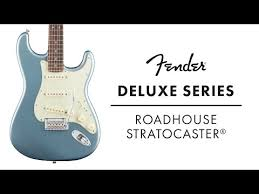 Blind Guitarist From Roadhouse Fender Deluxe Roadhouse Strat Classic Copper With Maple