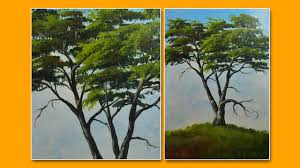 learn how to paint a tree acrylic painting lesson by jmlisondra