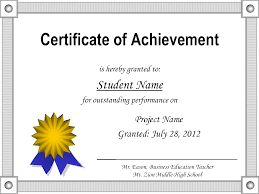 free certificate of achievement templates for word amitdhull co