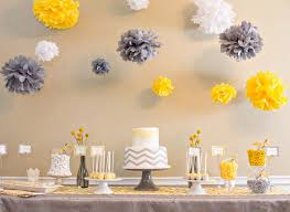 yellow and gray baby shower chevron themed baby shower in yellow and gray the umbrella