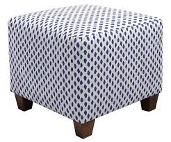 Square Ottomans 8 Chic Blue Ottomans For Your Modern Home Furniture