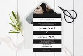black and white striped wedding invitations black white striped wedding invitation with envelope liner