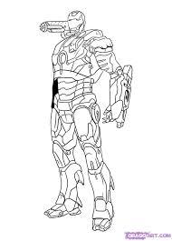 draw war machine step step marvel characters draw
