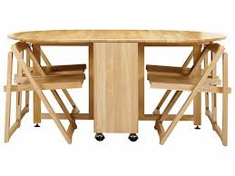 Kitchen Folding Tables by Stunning Folding Table With Chair Storage Inside Drop Leaf Table