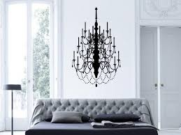 Chandelier Wall Stickers Amazon Com Fancy Chandelier Vinyl Wall Decal Art Decor Design