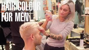 Mens Hairstyle Generator by How To Bleach Men U0027s Hair Dark To Platinum Blonde At Johnny U0027s Chop