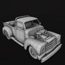 rusty pickup truck 3d asset animated old rusty pickup truck cgtrader