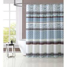 Teal And Brown Shower Curtain Brown U0026 Blue Verbena Shower Curtain Set At Home At Home