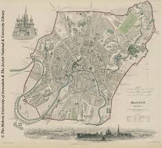 Moscow Map Map Of Moscow 1836