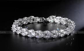 bracelet earrings set images Zakol trendy 3row marquise cut cz diamond necklace earrings jpg