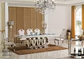 mirrored dining room table romantic wedding banquet crystal glass mirrored dining room table