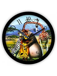 colorful wooden designer analog wall clock buy online random