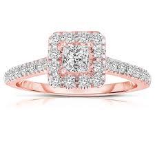 cheap princess cut engagement rings half carat princess cut halo diamond engagement ring in gold