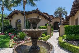 lovely hacienda house style with painted house exterior and