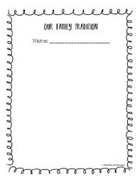 family traditions from pre kindergarten to grade1 by play into kinder