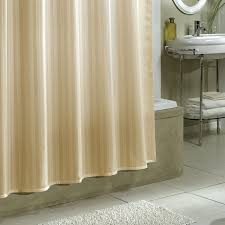 nice stripe fabric extra long shower curtain liner with chrome